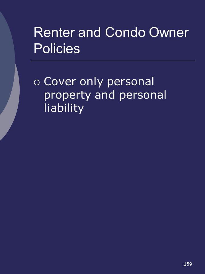 Renter and Condo Owner Policies