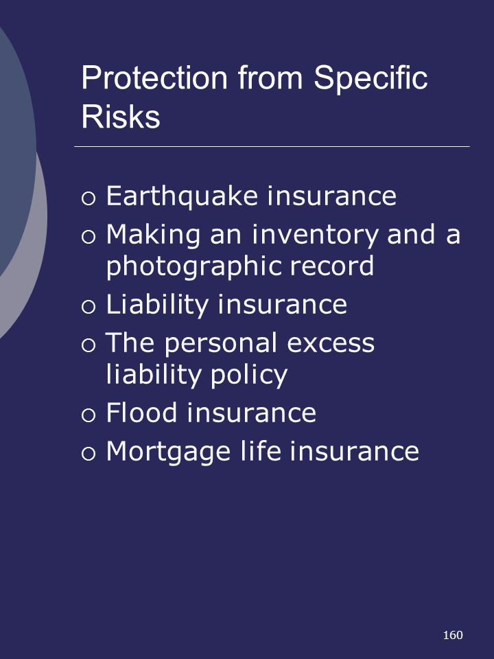 Protection from Specific Risks