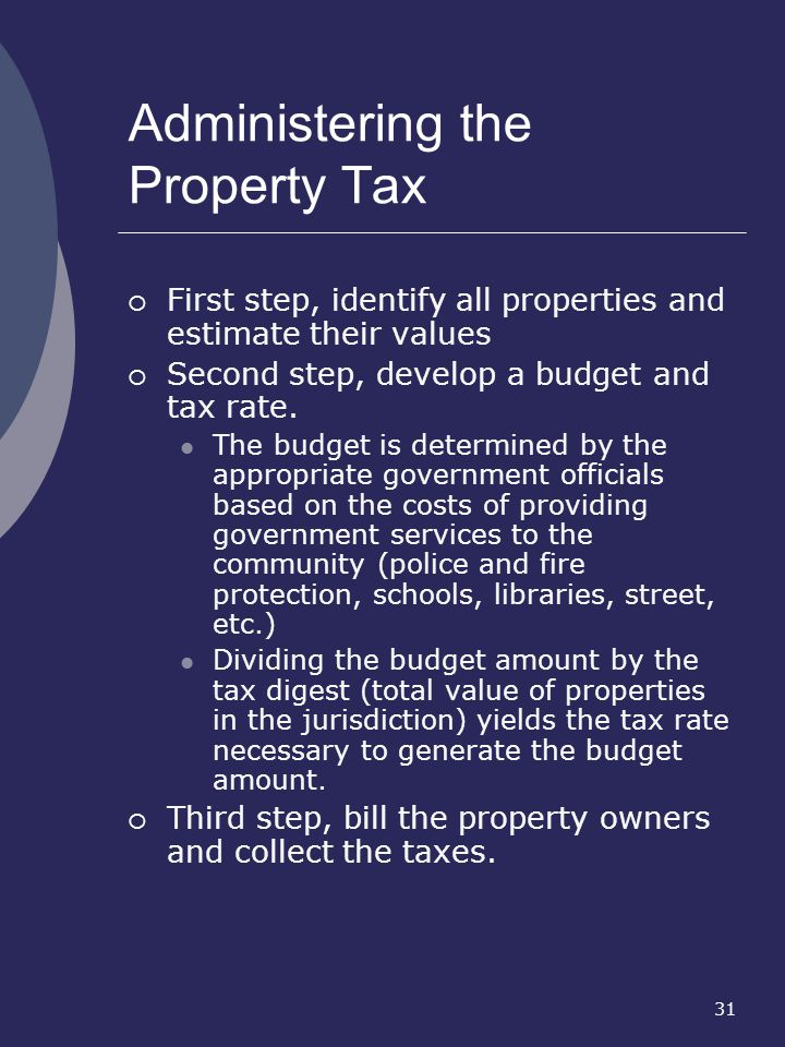 Administering the Property Tax