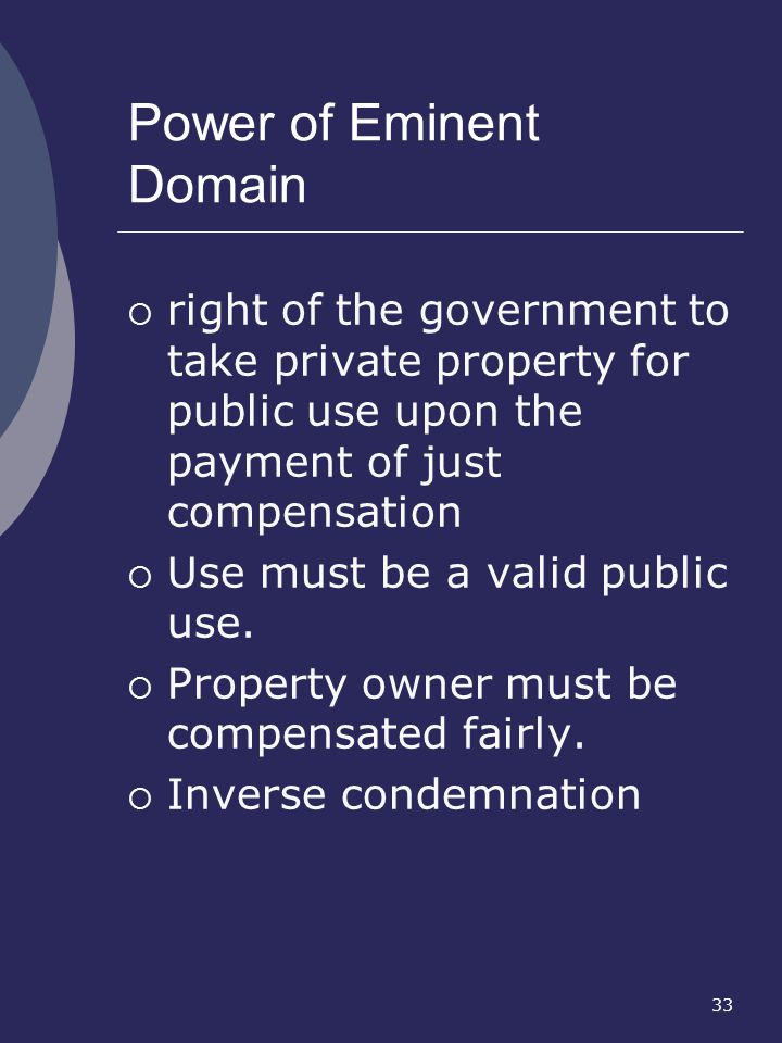 Power of Eminent Domain