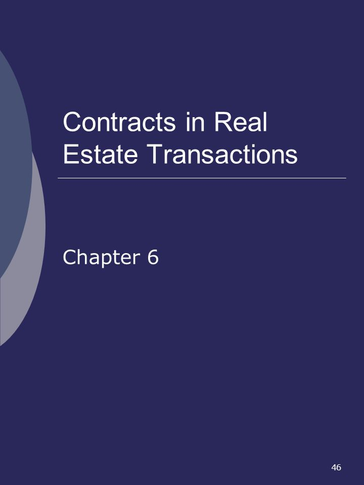 Contracts in Real Estate Transactions