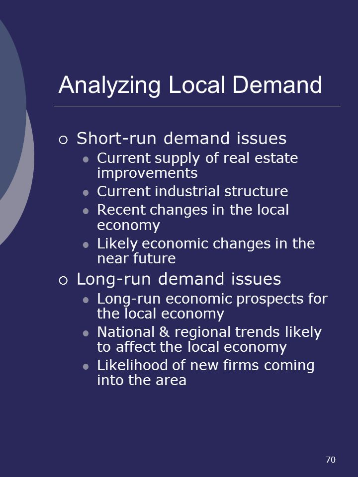 Analyzing Local Demand