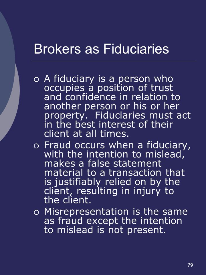 Brokers as Fiduciaries