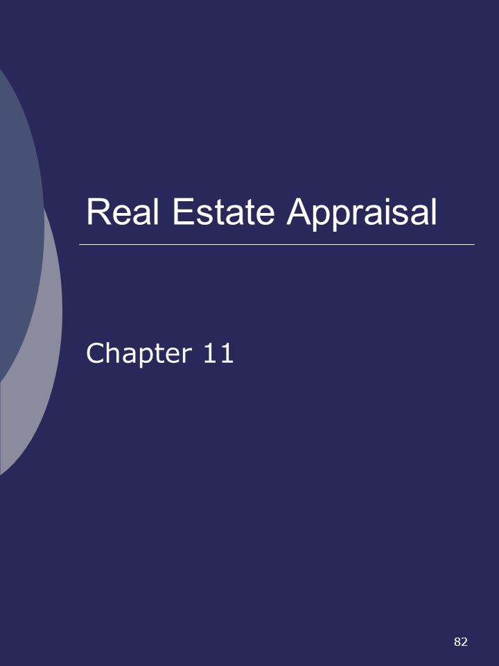 Real Estate Appraisal Chapter 11