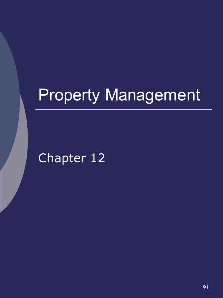 Property Management Chapter 12