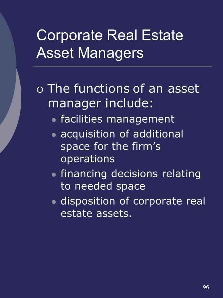 Corporate Real Estate Asset Managers