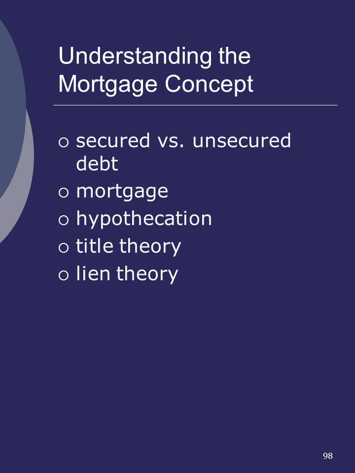 Understanding the Mortgage Concept