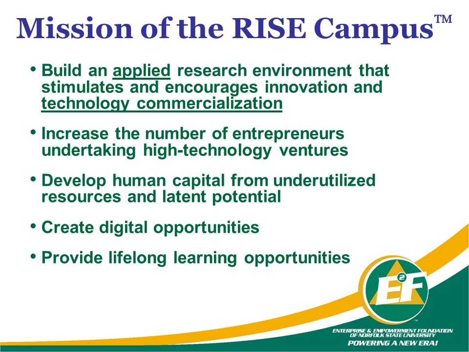 Mission of the RISE Campus