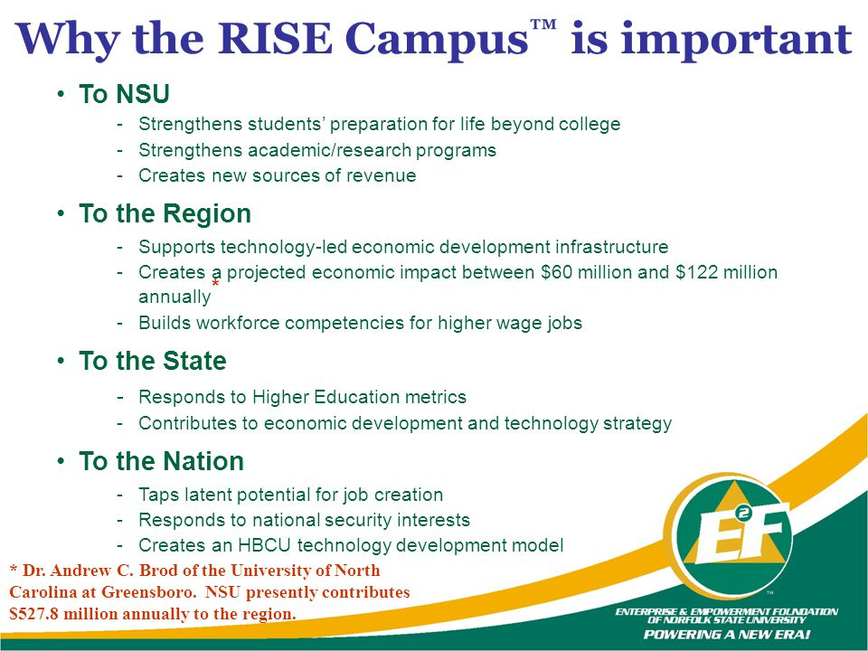 Why the RISE Campus™ is important