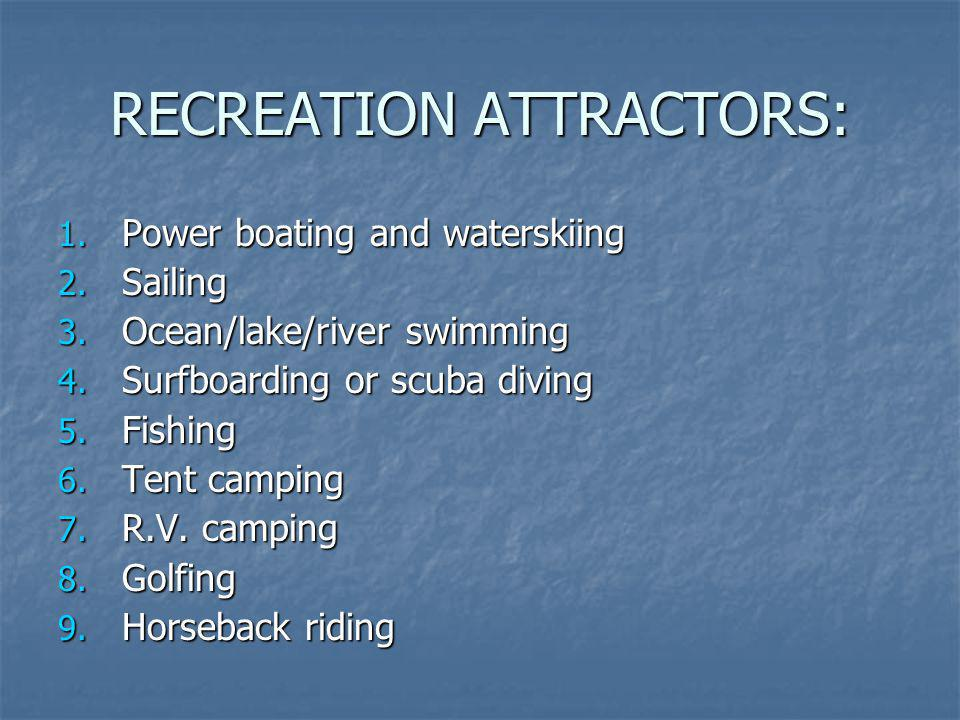 RECREATION ATTRACTORS: