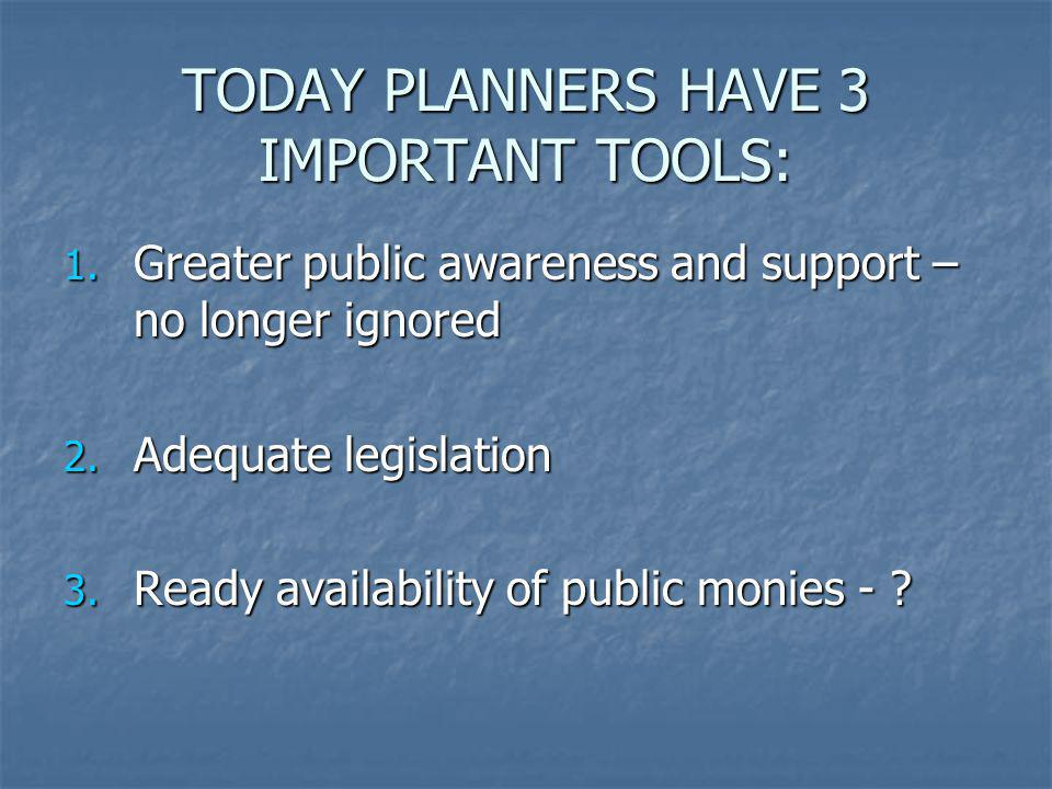 TODAY PLANNERS HAVE 3 IMPORTANT TOOLS: