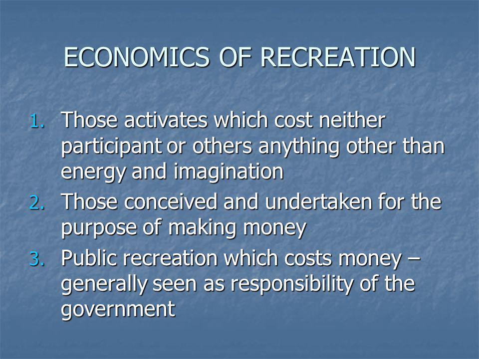 ECONOMICS OF RECREATION