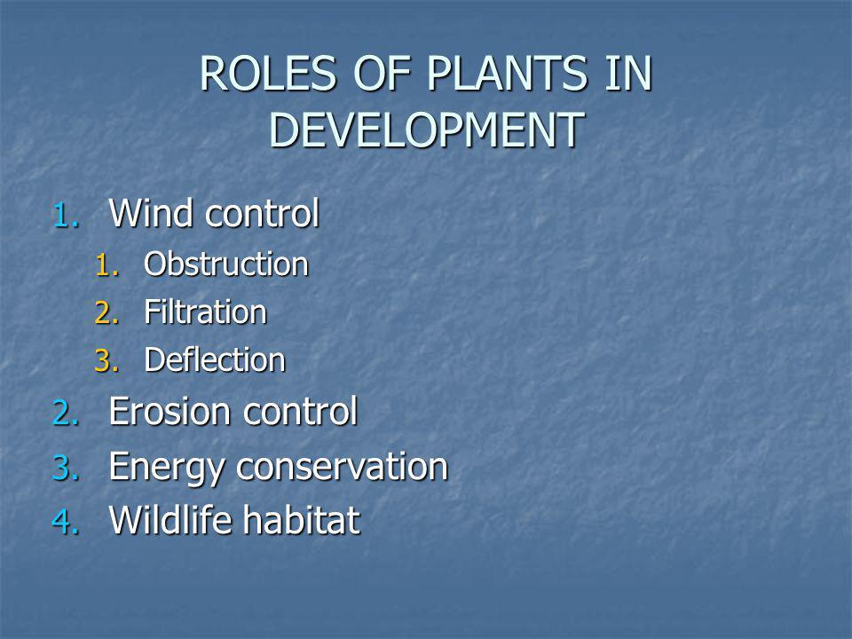 ROLES OF PLANTS IN DEVELOPMENT