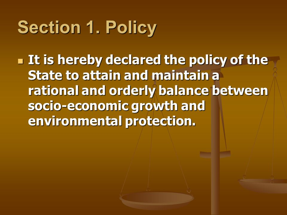 Section 1. Policy