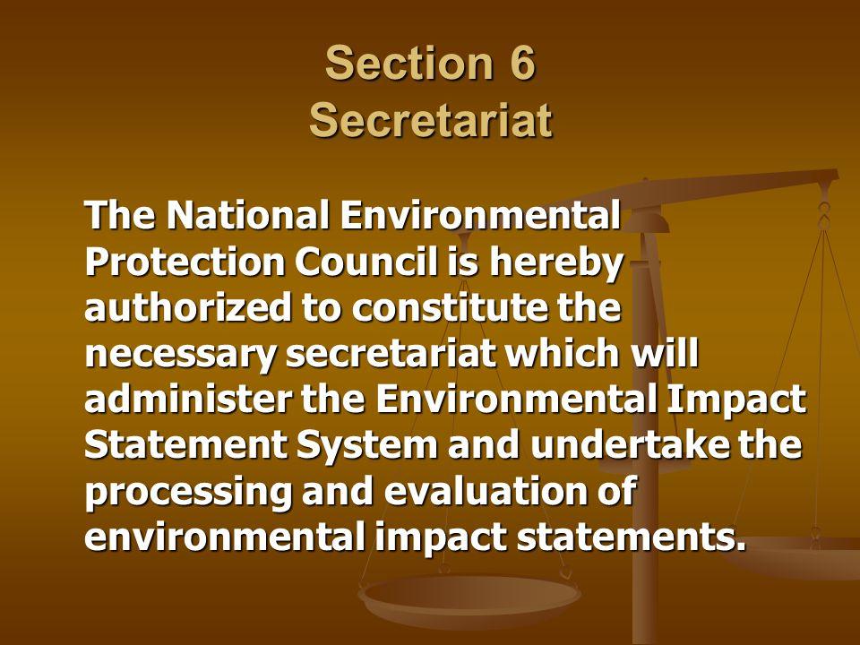 Section 6 Secretariat