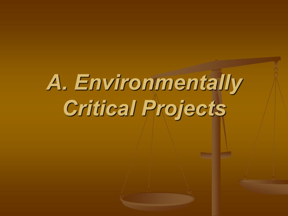 A. Environmentally Critical Projects