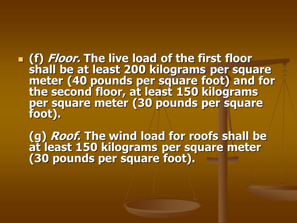 (f) Floor.