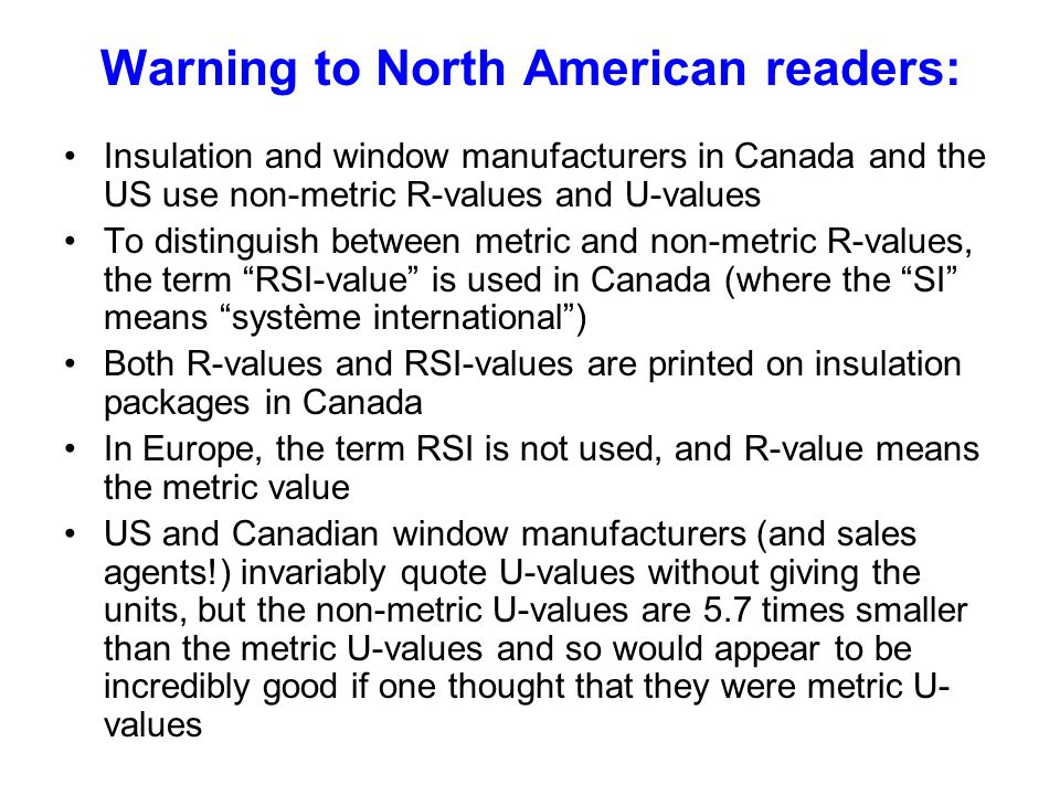 Warning to North American readers: