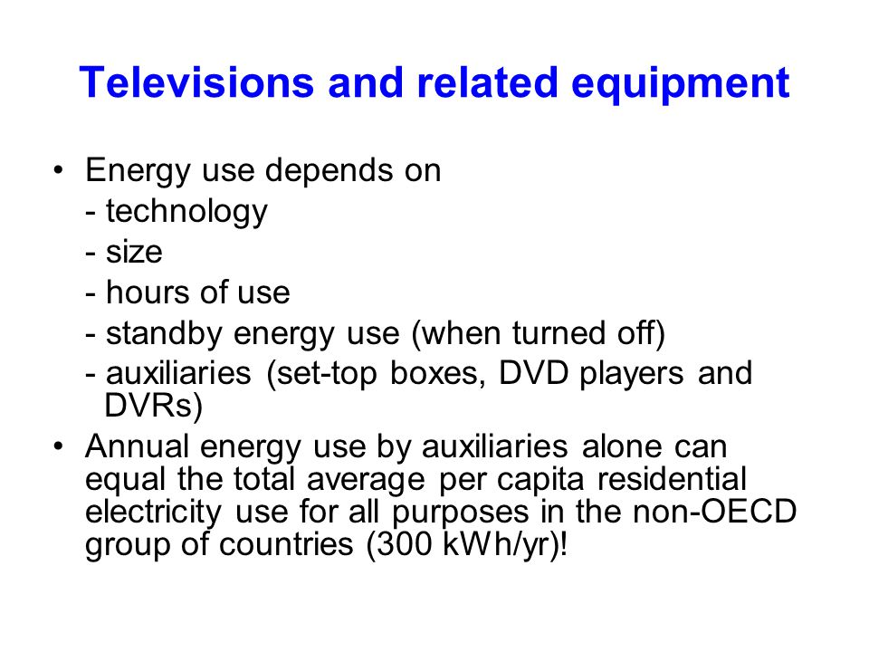 Televisions and related equipment