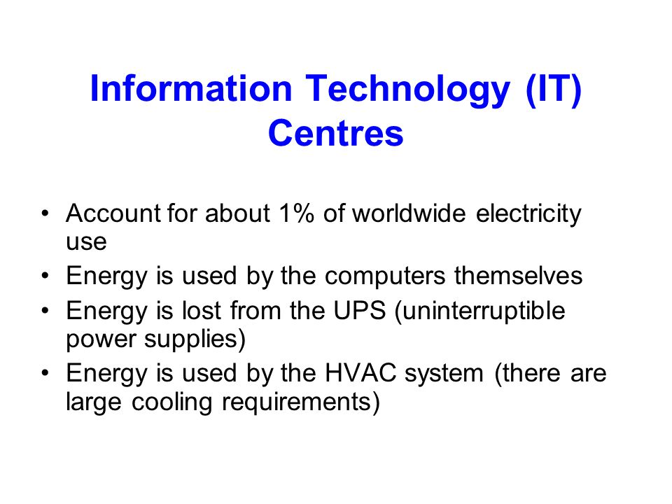 Information Technology (IT) Centres
