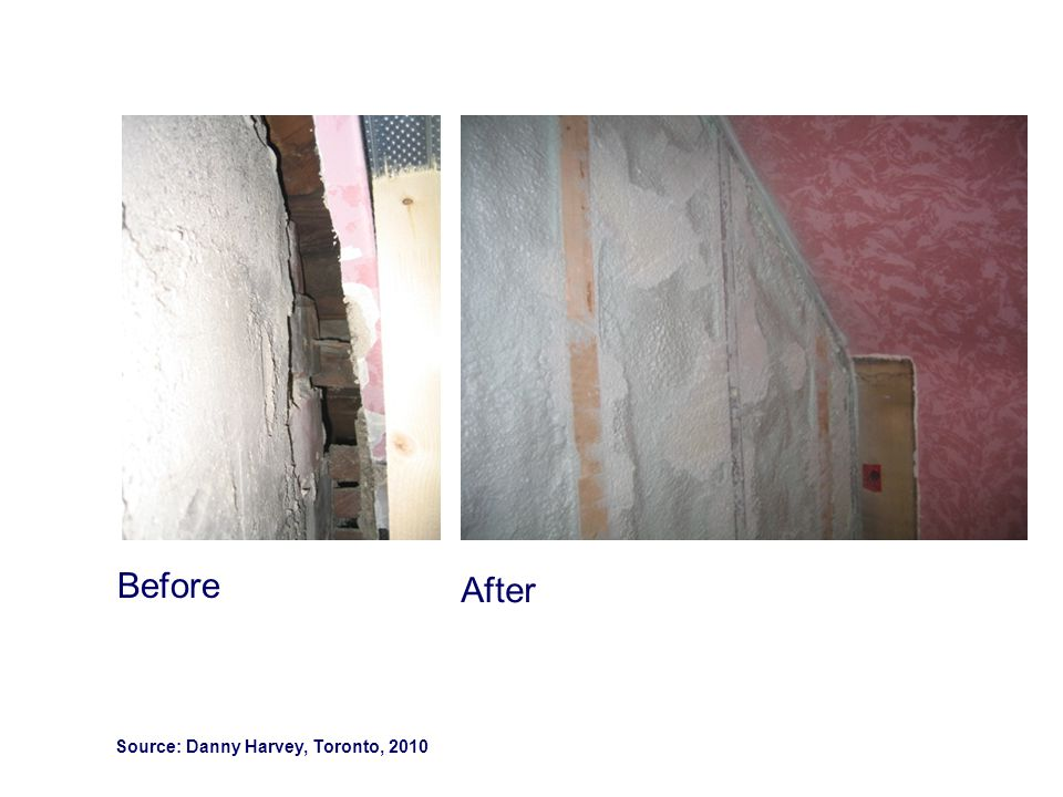 Before After Source: Danny Harvey, Toronto, 2010