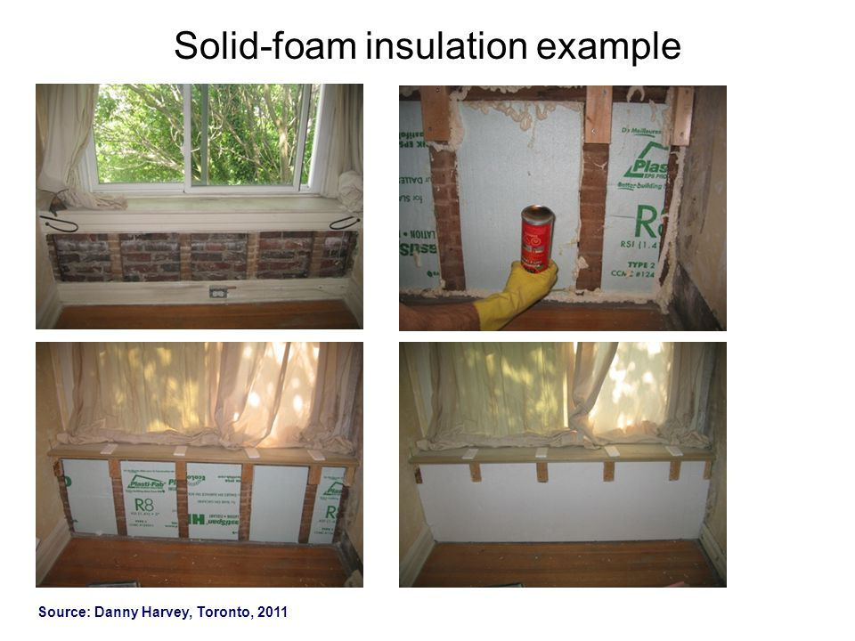 Solid-foam insulation example