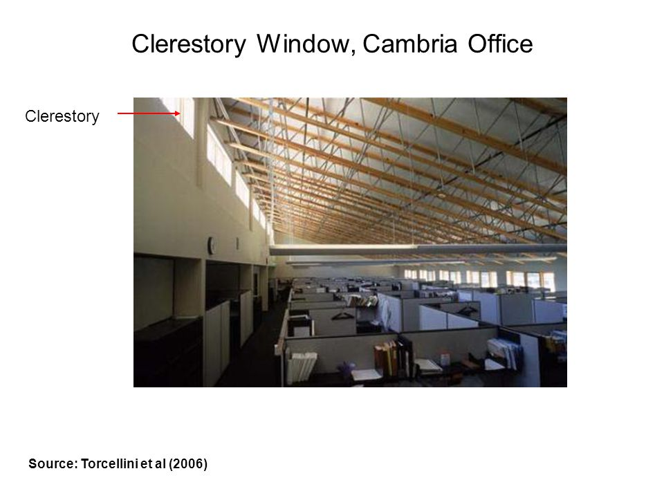 Clerestory Window, Cambria Office