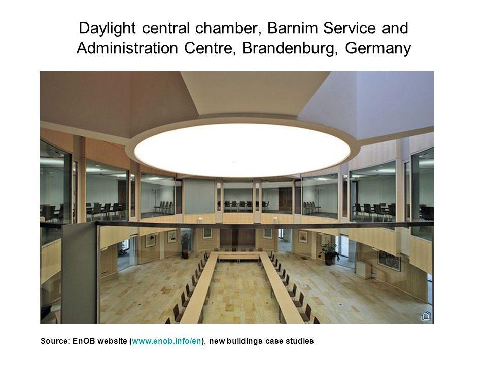 Daylight central chamber, Barnim Service and Administration Centre, Brandenburg, Germany