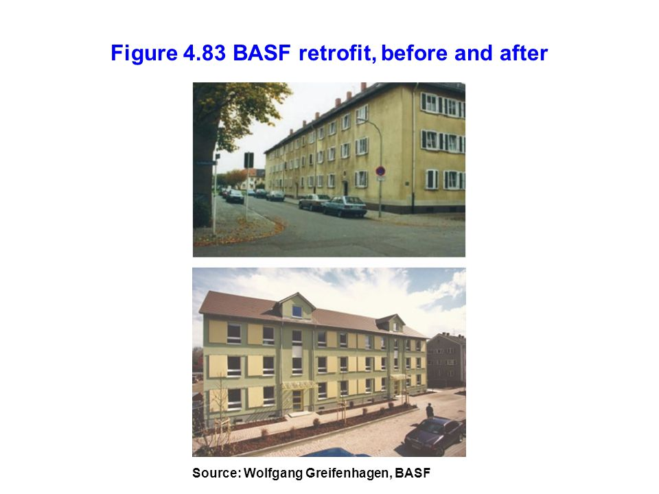 Figure 4.83 BASF retrofit, before and after