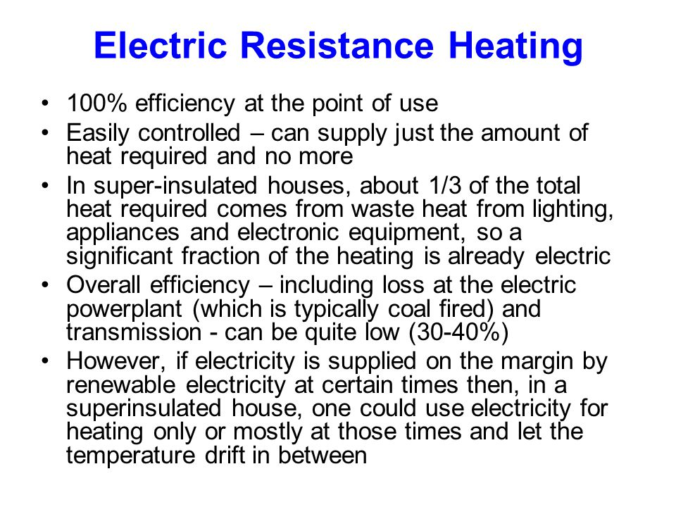 Electric Resistance Heating