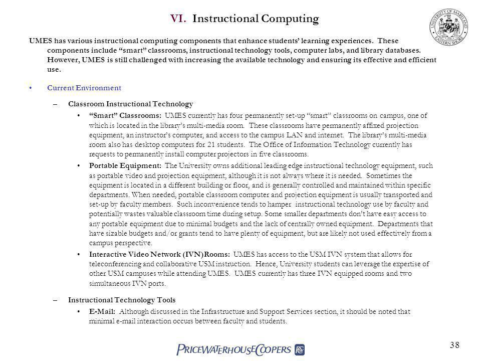 VI. Instructional Computing