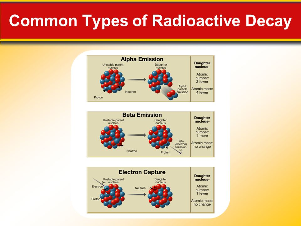 Common Types of Radioactive Decay