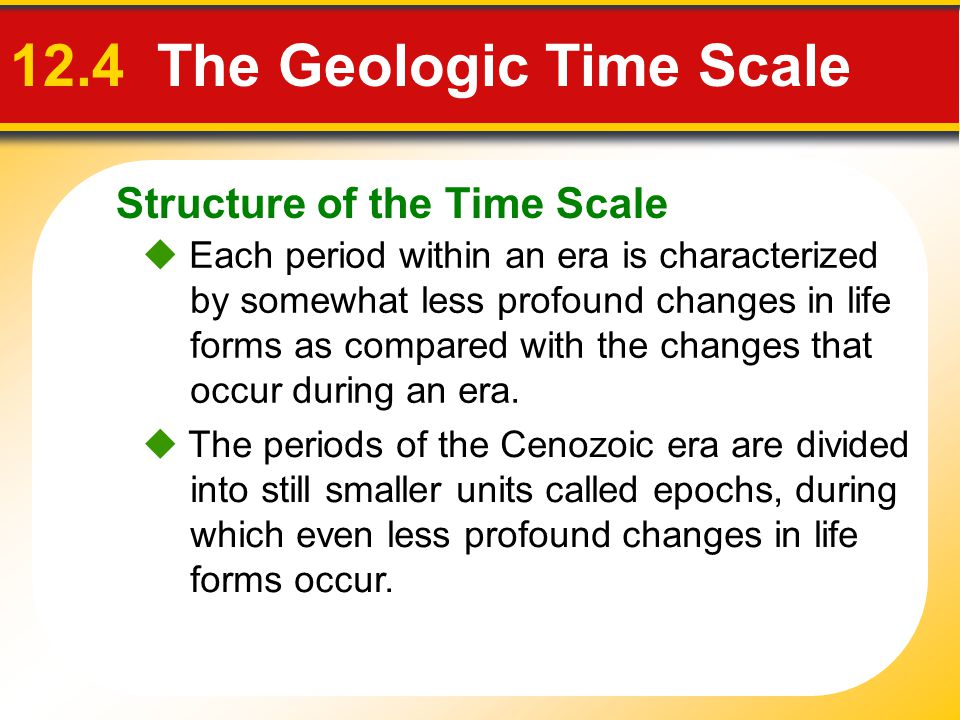 12.4 The Geologic Time Scale