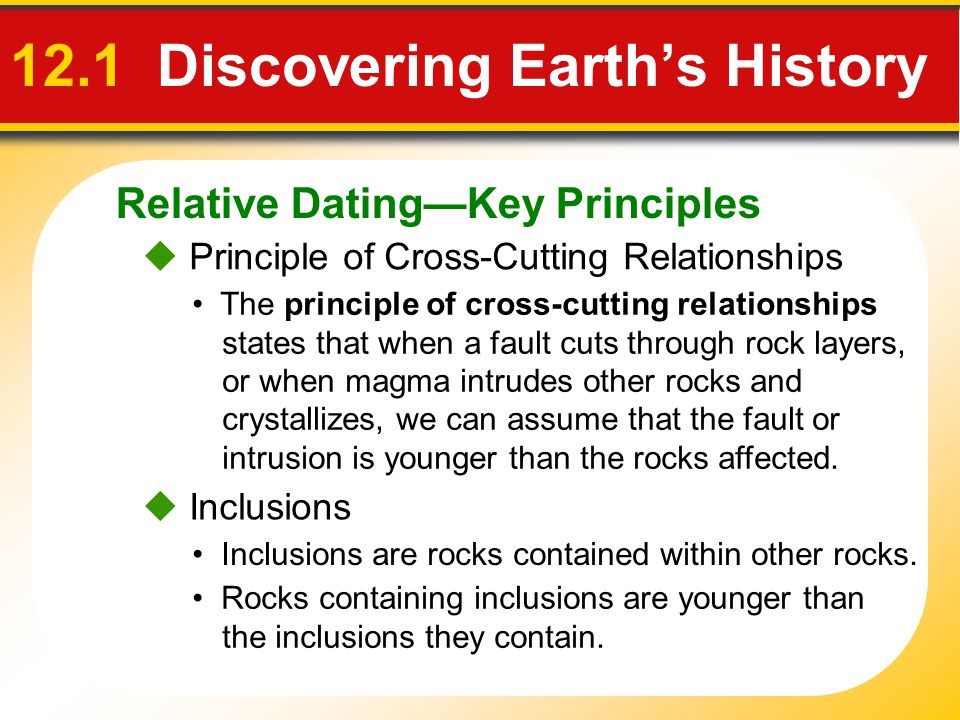 12.1 Discovering Earth's History