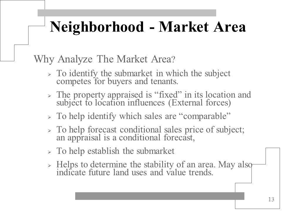Neighborhood - Market Area