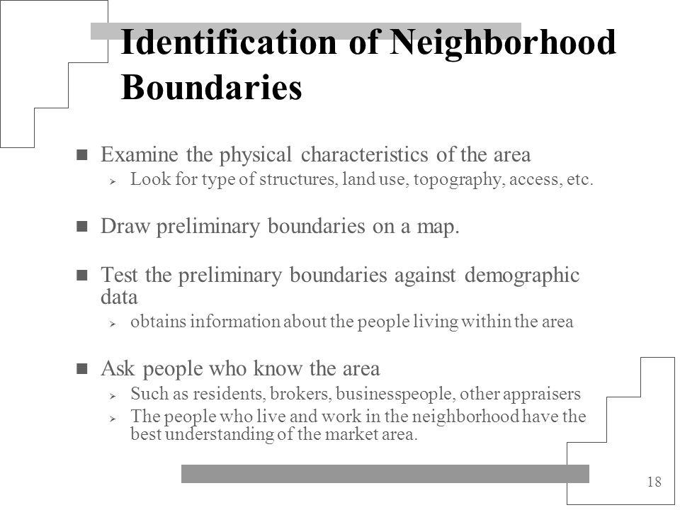 Identification of Neighborhood Boundaries