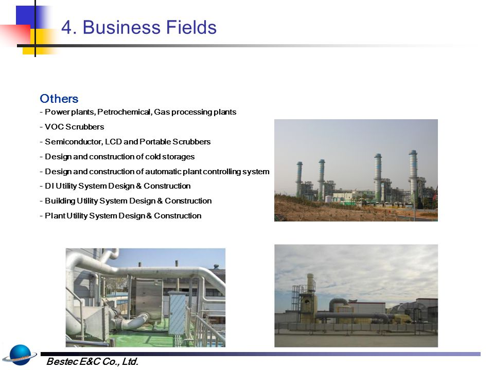 4. Business Fields Clean Room Power Facilities Illumination Facilities
