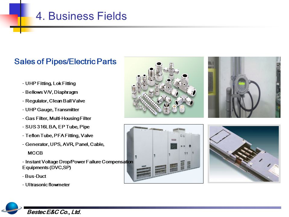 4. Business Fields