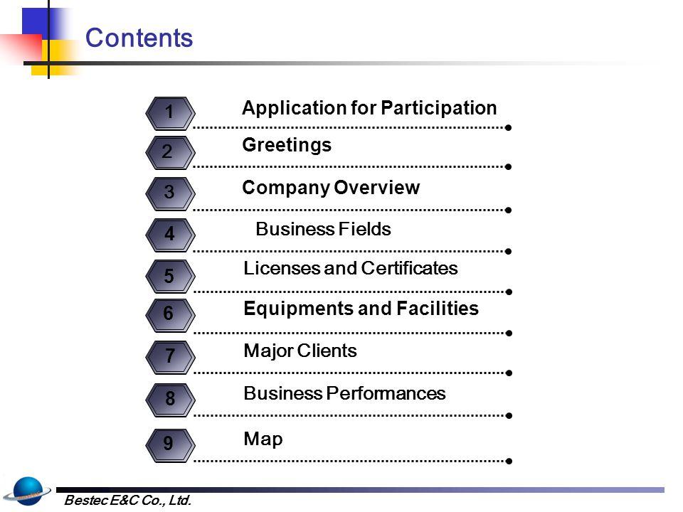 1. Application for Participation