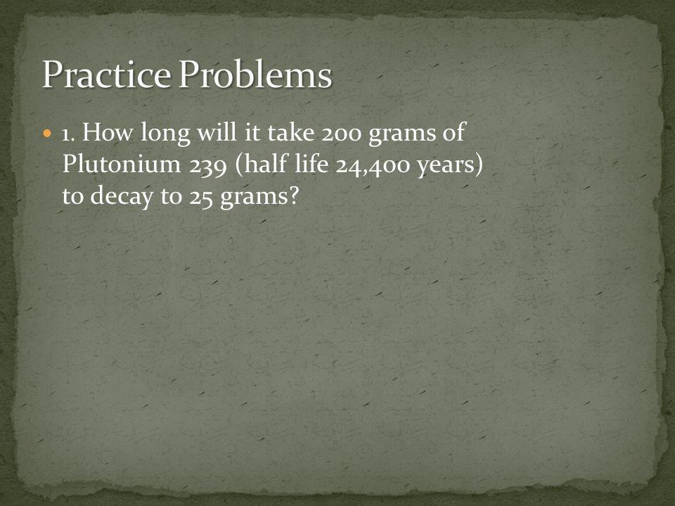 Practice Problems 1.