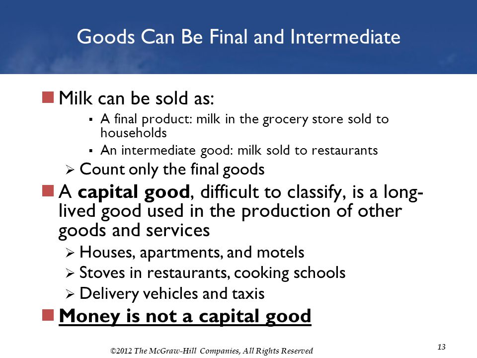 Goods Can Be Final and Intermediate
