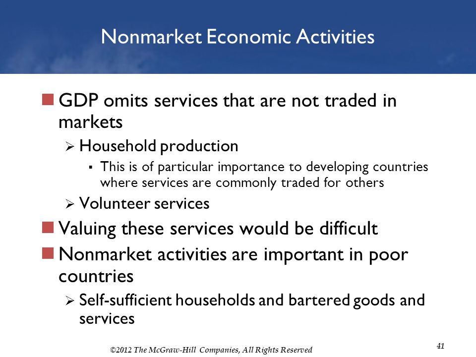 Nonmarket Economic Activities