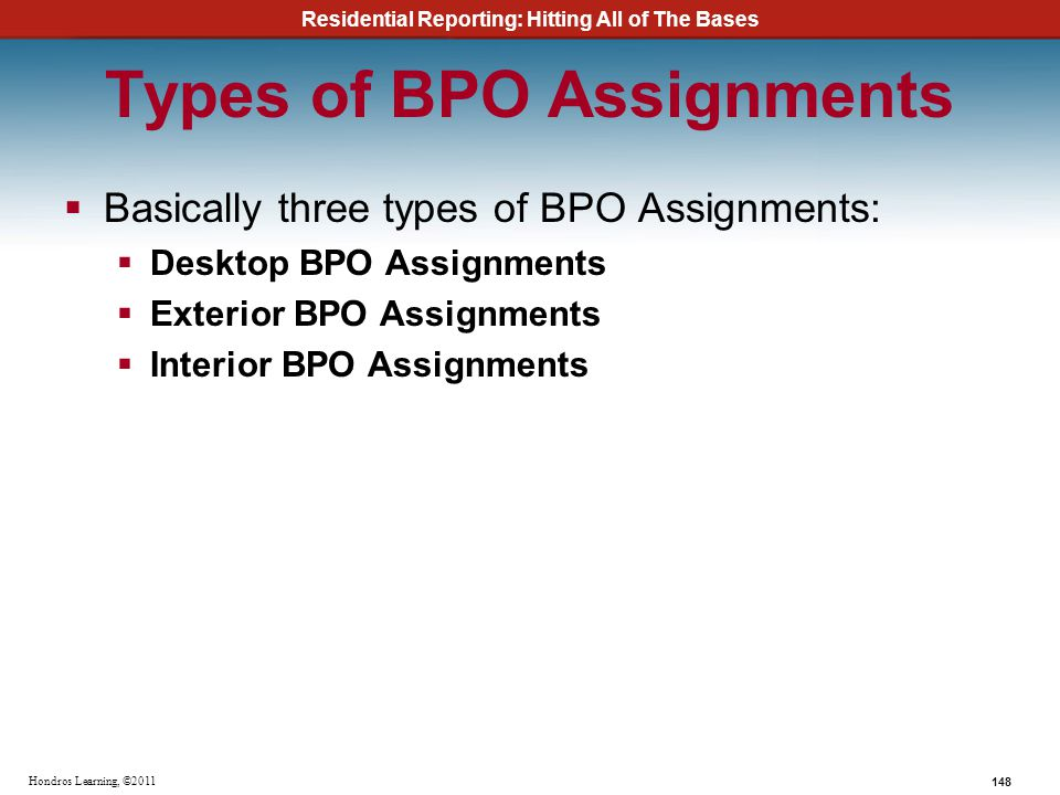 Types of BPO Assignments