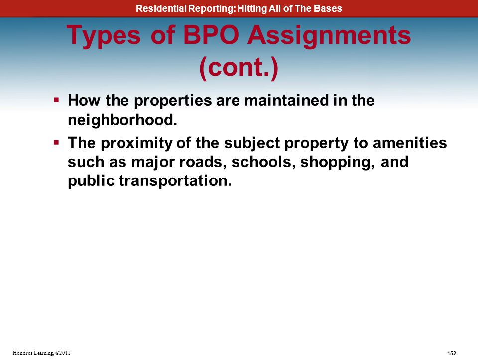 Types of BPO Assignments (cont.)