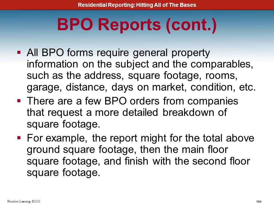 BPO Reports (cont.)