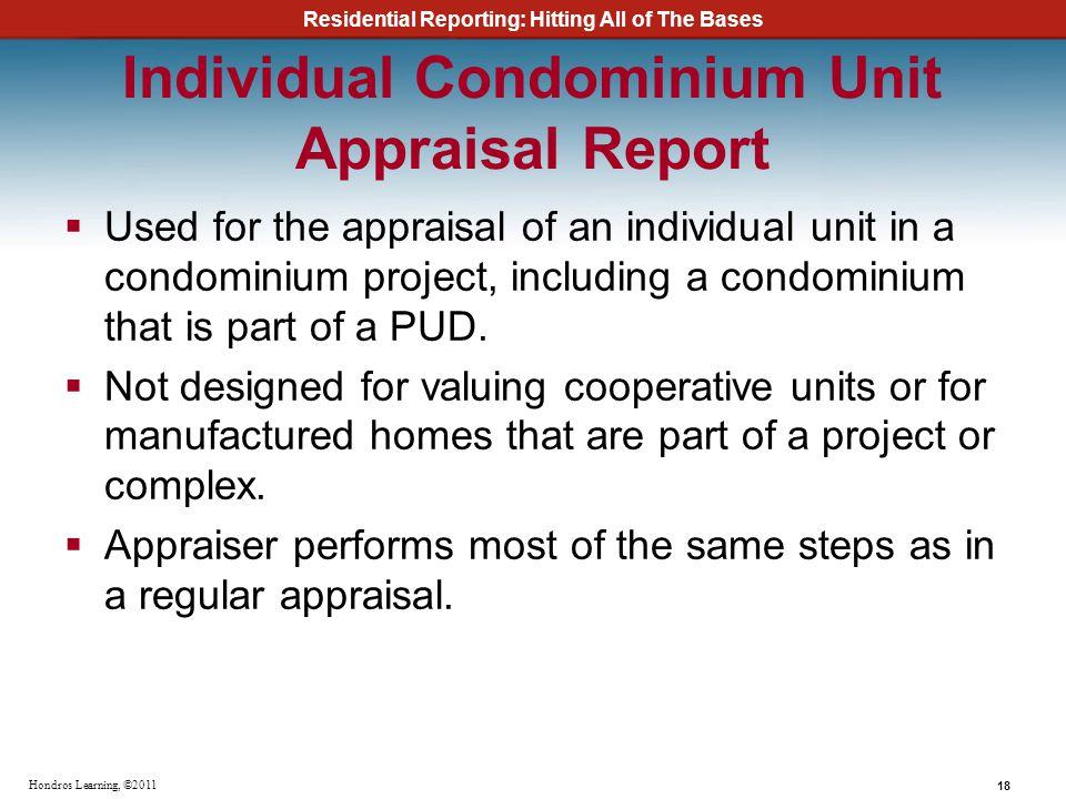Individual Condominium Unit Appraisal Report