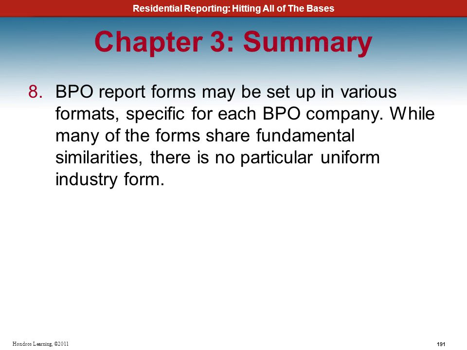 Chapter 3: Summary