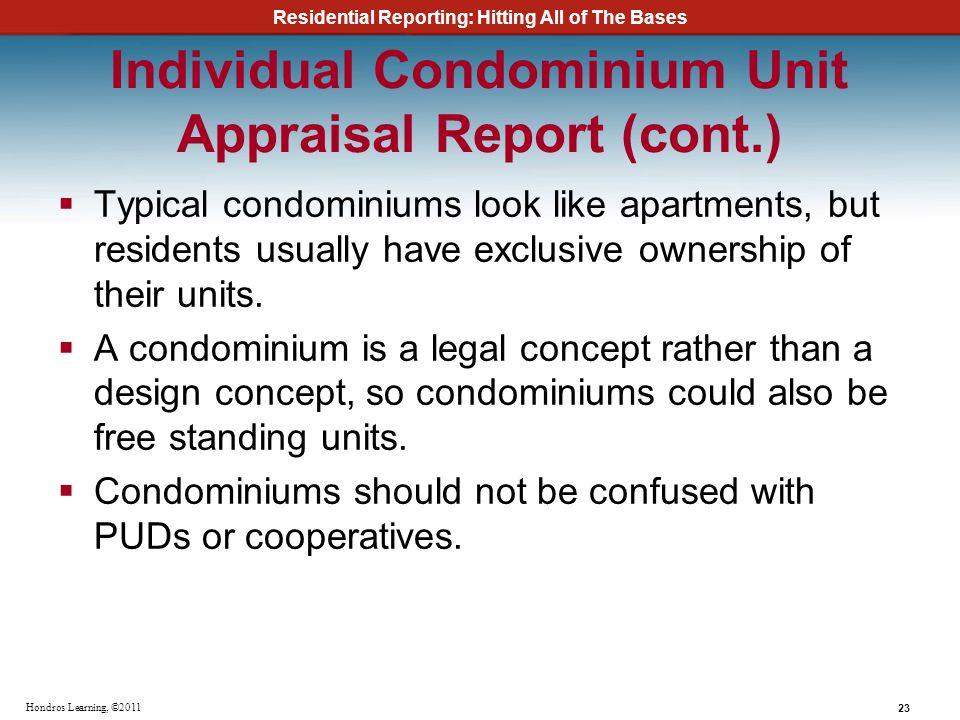 Individual Condominium Unit Appraisal Report (cont.)