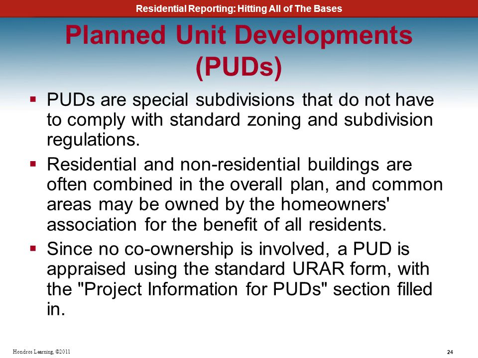 Planned Unit Developments (PUDs)