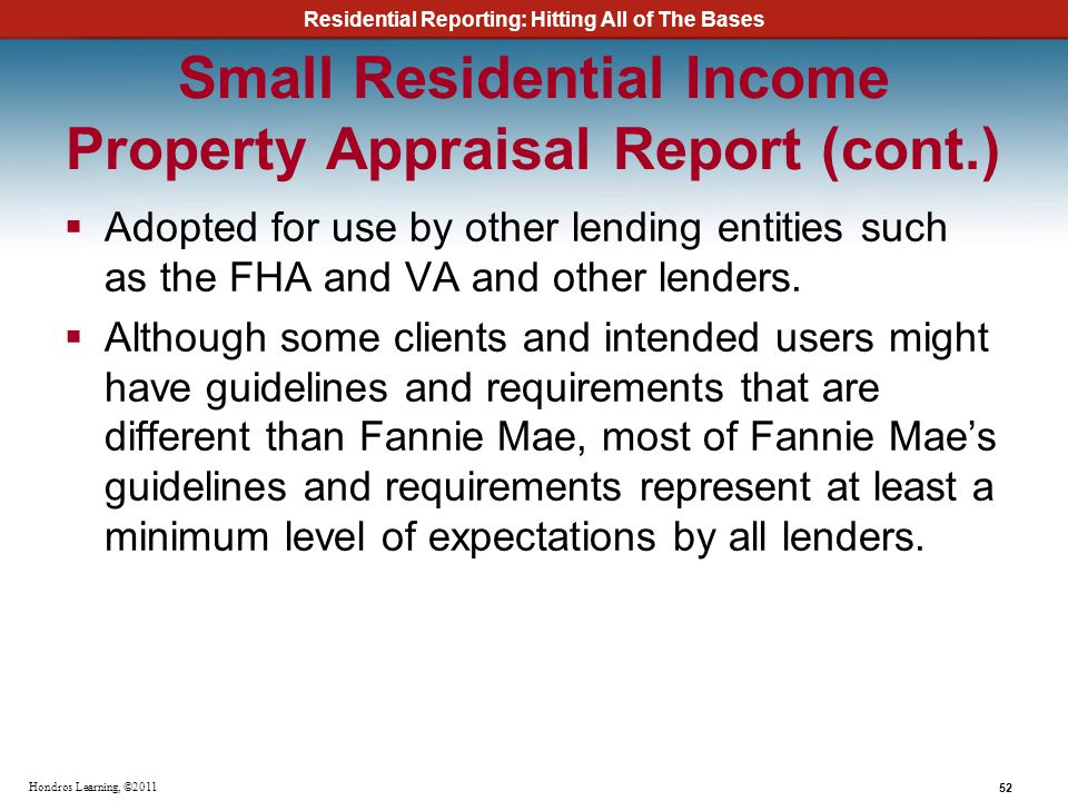 Small Residential Income Property Appraisal Report (cont.)
